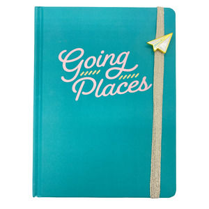 Going Places Journal Hardcover Teal